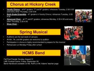 Chorus at Hickory Creek