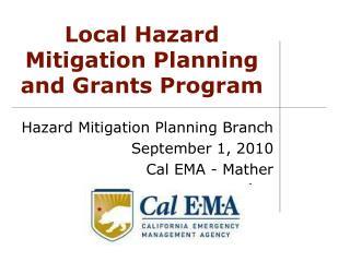 Local Hazard Mitigation Planning and Grants Program