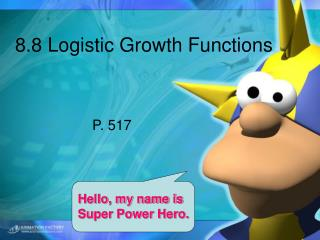 8.8 Logistic Growth Functions