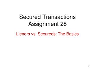 Secured Transactions Assignment 28