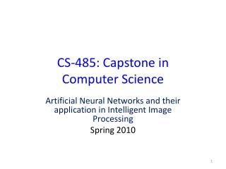 CS-485: Capstone in  Computer Science