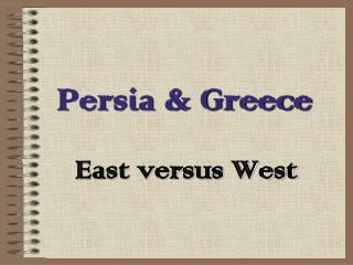 Persia & Greece