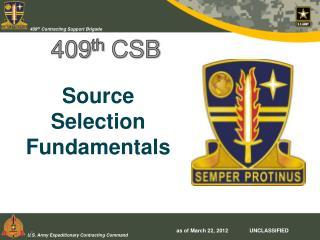 409 th  CSB