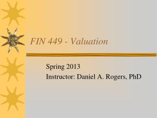 FIN 449 - Valuation