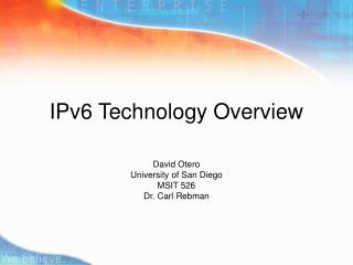 IPv6 Technology Overview
