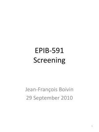 EPIB-591 Screening