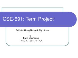 CSE-591: Term Project