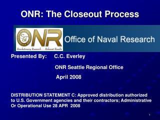 ONR: The Closeout Process