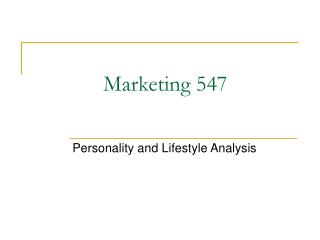 Marketing 547