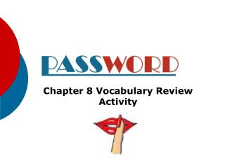 Chapter 8 Vocabulary Review Activity
