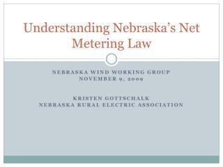 Understanding Nebraska's Net Metering Law