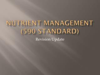 Nutrient Management (590 Standard)
