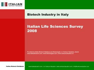 Biotech Industry in Italy