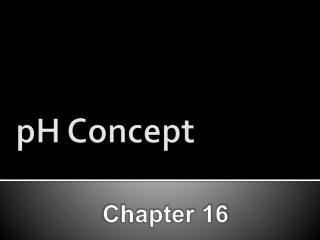 pH Concept