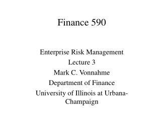 Finance 590