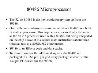 80486 Microprocessor