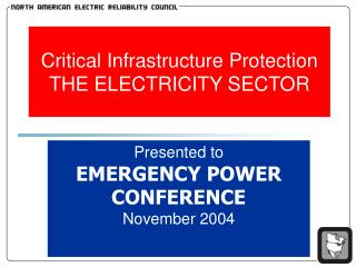 Critical Infrastructure Protection THE ELECTRICITY SECTOR