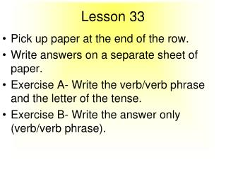 Lesson 33