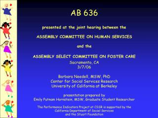 AB636—Congratulations to the Legislature, CDSS, and the Counties!