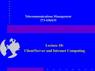 Telecommunications Management 273-436/635