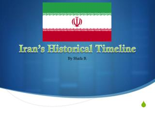Iran's Historical Timeline
