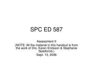 SPC ED 587