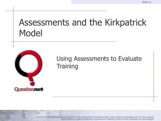 Assessments and the Kirkpatrick Model