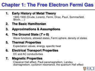 Early History of Metal Theory