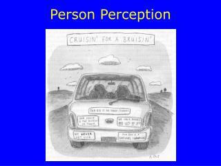 Person Perception