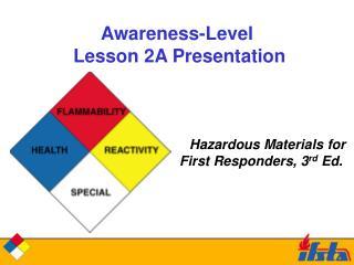 Awareness-Level   Lesson 2A Presentation