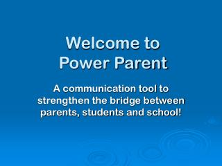 Welcome to Power Parent