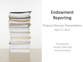 Endowment Reporting