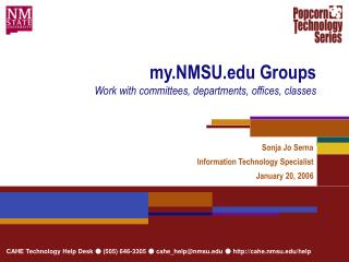my.NMSU Groups Work with committees, departments, offices, classes