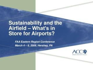 Sustainability and the Airfield – What's in Store for  Airports?