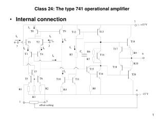 Class 24: The type 741 operational amplifier