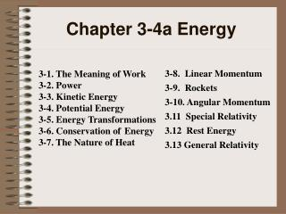 Chapter 3-4a Energy