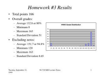 Homework #3 Results