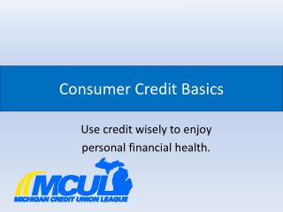 Consumer Credit Basics