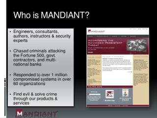 Who is MANDIANT?