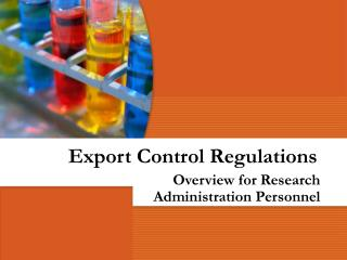 Export Control Regulations