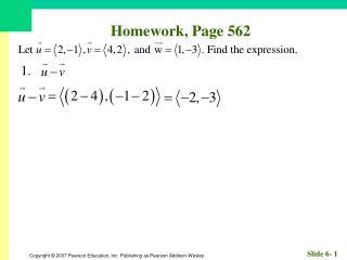 Homework, Page 562