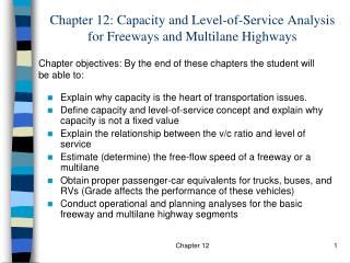 Chapter 12: Capacity and Level-of-Service Analysis for Freeways and Multilane Highways
