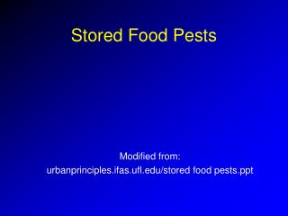 Stored Food Pests