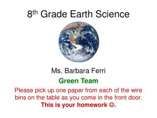 8 th  Grade Earth Science