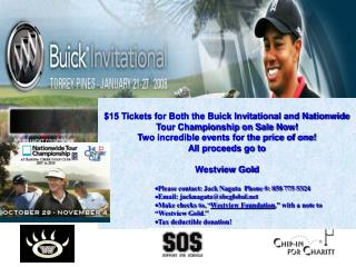 $15 Tickets for Both the Buick Invitational and Nationwide Tour Championship on Sale Now!