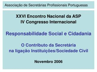 Associa  o de Secret rias Profissionais Portuguesas