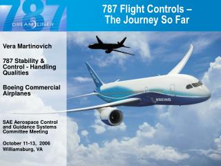 787 Flight Controls – The Journey So Far