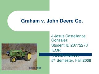 Graham v. John Deere Co.