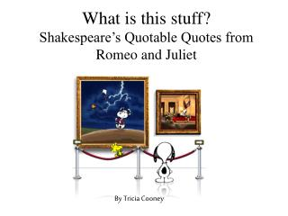 What is this stuff? Shakespeare's Quotable Quotes from Romeo and Juliet