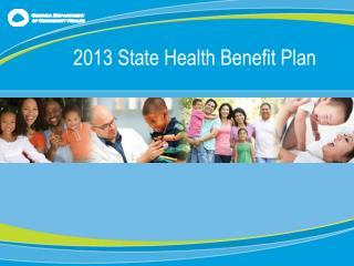 2013 State Health Benefit Plan
